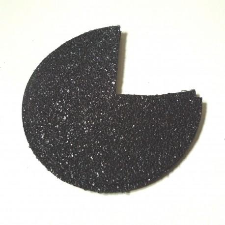 Coins de sacs simili glitter noir