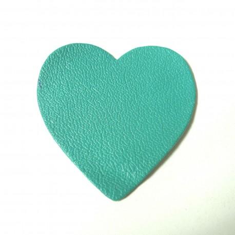 Coeur cuir émeraude