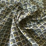 Tissu japonais Eventails noir