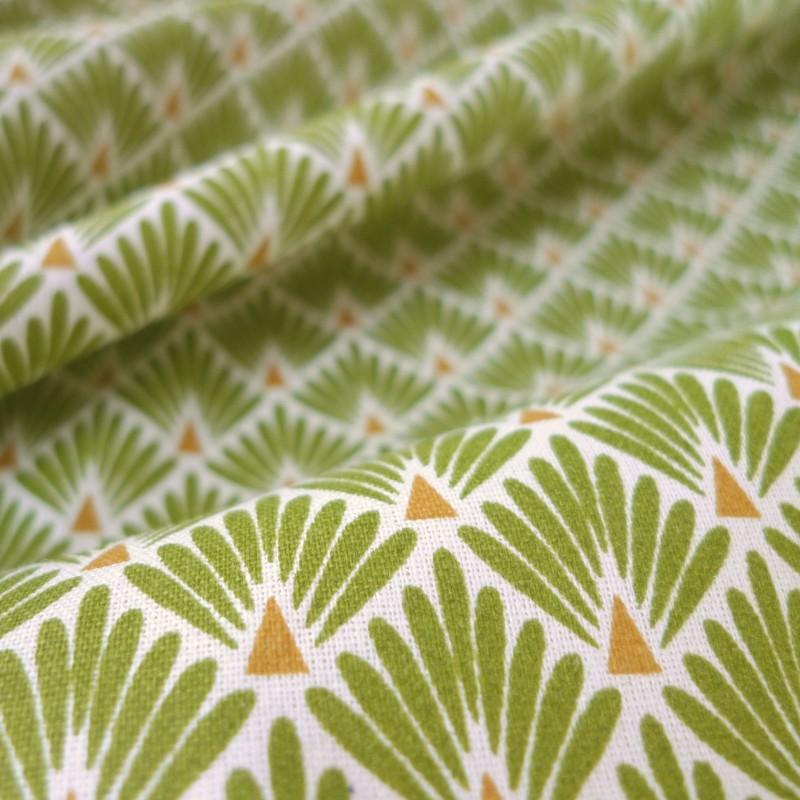 tissu japonais paon vert tissus. Black Bedroom Furniture Sets. Home Design Ideas