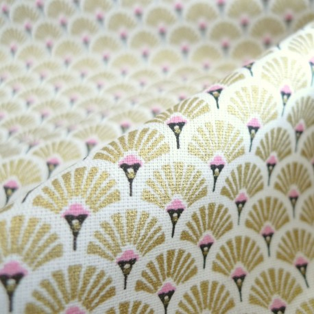 Tissu japonais Eventails OR