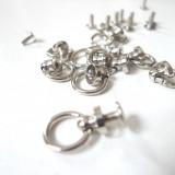 Bouton de col anneau nickel