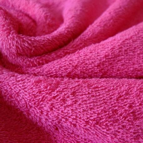 Tissu éponge fushia