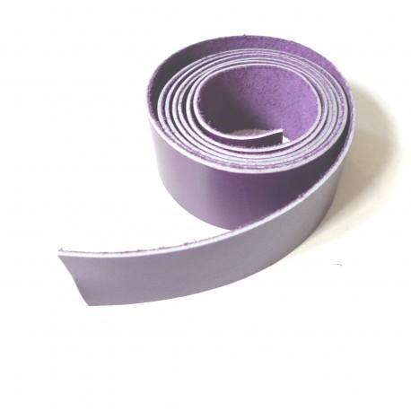 Lanière cuir violet