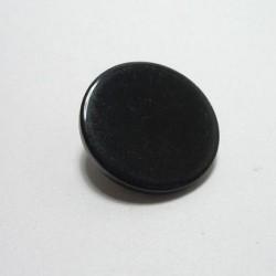 Bouton plat noir 14 mm