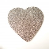Coeur simili glitter bronze