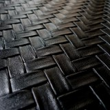Simili cuir Bamboo noir