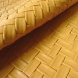 Simili cuir Bamboo jaune