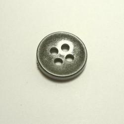 Bouton grosse épaisseur gris métallisé 26 mm