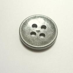 Bouton grosse épaisseur, gris métallisé 36 mm