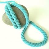 Cordon max coton turquoise
