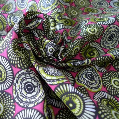 Tissu coton Soweto rose