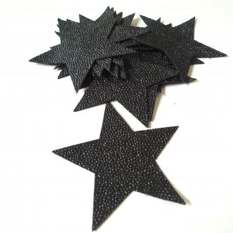 Etoile simili cuir Galuchat noir