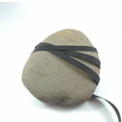 Serge coton noir 10 mm