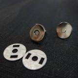 Fermoir mini magnétique nickel