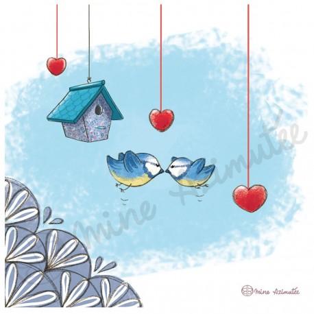 Coupon Birds Illustré