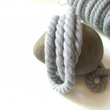 Cordon max coton gris chiné