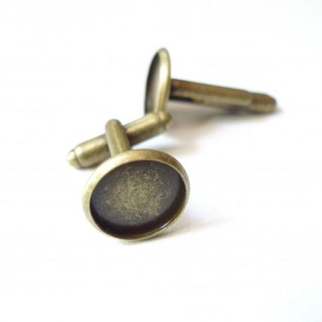 boutons de manchette bronze