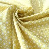 Tissu japonais Asanoha Jaune