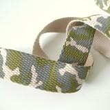 Sangle coton camouflage kaki