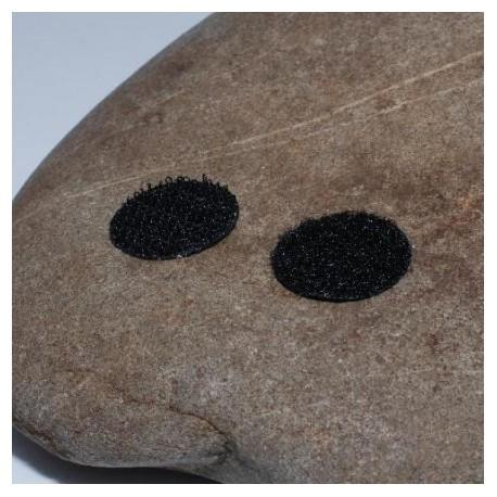 Velcro noir pastilles 19 mm