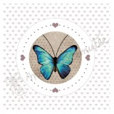 Coupon Butterfly turquoise
