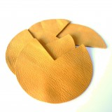 Coins de sacs cuir moutarde