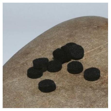 Coeurs de feutre de laine noirs
