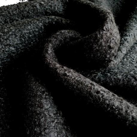 Tissu bouclette noir