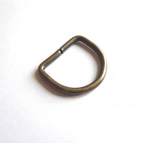Anneau demi rond 20 mm bronze