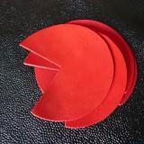 Coins de sacs cuir rouge