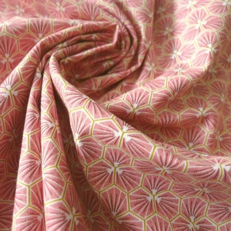 Tissu coton Riad rose