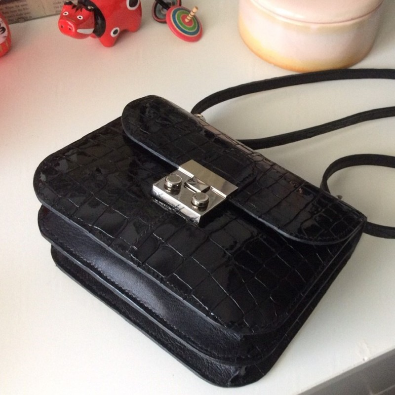 fermoir noir pour sac a main en cuir