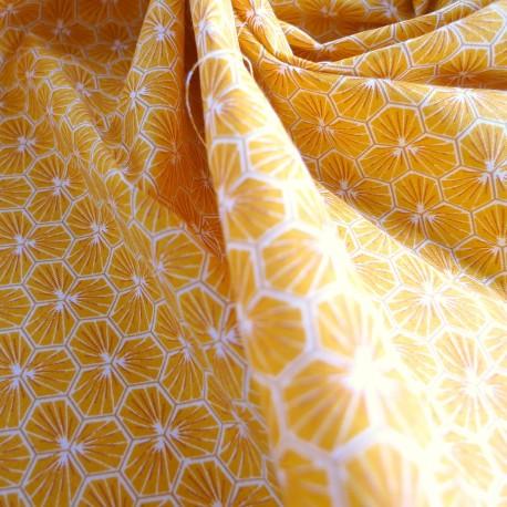 Tissu coton Riad jaune safran