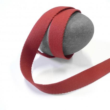 Sangle coton rouge foncé