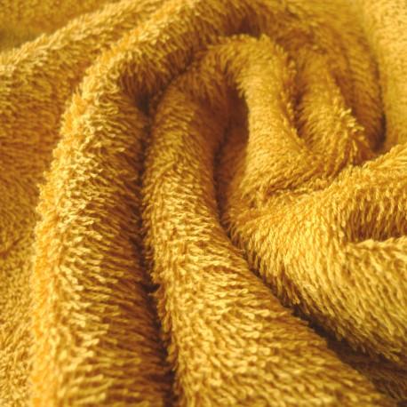 Tissu éponge  moutarde