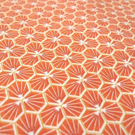 Tissu coton Riad tomette