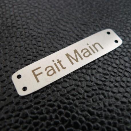 Plaque métal Fait Main nickel