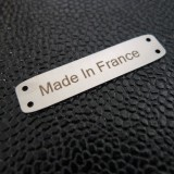 Griffe métal Made in France nickel
