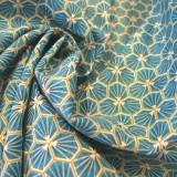 Tissu coton Riad azur