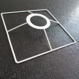 Carcasse Tête carrée luminaire