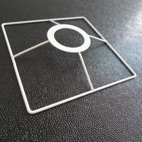 Tête carrée luminaire