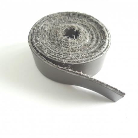 Lanière cuir taupe
