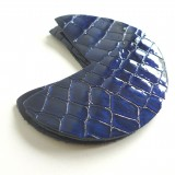 Coins cuir laqués bleu nuit