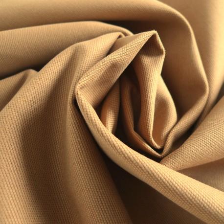 Tissu toile canevas camel