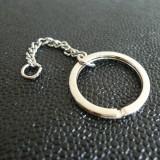 porte-clé anneau nickel