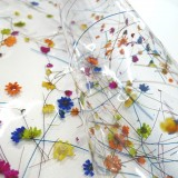 Tissu PVC cristal transparent
