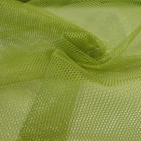 Tissu filet Mesh Fabric Vert Pomme