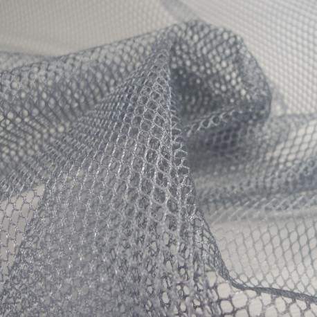 Tissu filet Mesh Fabric Gris