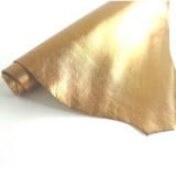 Peau cuir cuivrée métal